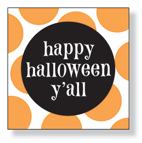 UNAVAILABLE<br><br>A great &quot;happy halloween yall&quot; design beverage napkins are perfect for your Halloween party! There are 20 napkins in the pack. Minimum order is 6 packs.