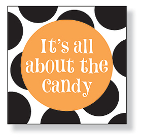 <b>OUT OF STOCK </b><br><br>A great &quot;Its All About the Candy&quot; design beverage napkins are perfect for your Halloween party! There are 20 napkins in the pack. Minimum order is 6 packs.