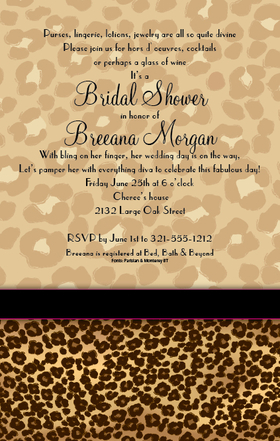 Start The Fun At Your Next Celebration With This Stylish Leopard Print Invitation