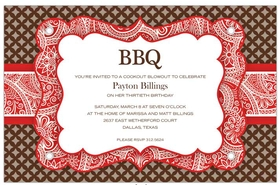 invitations bbq picnic invitations bbq red invitations