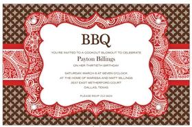 Invitations BBQ - PICNIC Invitations BBQ Red Invitations