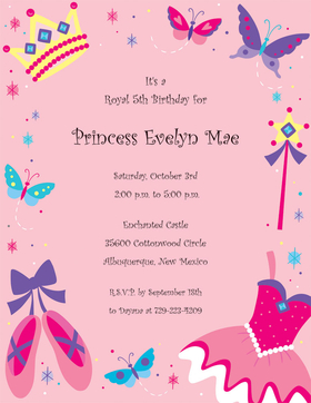 A princess requires a pretty pink princess themed paper for her next royal gathering!  This paper is designed on a pink background and has all the princess necessities : crown, ballerina dress and shoes with a magice wand of cours.  Perfect for a little girls birthday party.  Colored envelopes are available but are sold seperately.