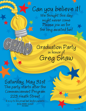 The tassels worth the hassle!  Now its time to celebrate the big day.  This laser paper is a great way to send your graduation party announcement.  Colored envelopes are available, sold separately.