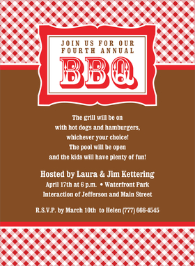 Blank Picnic Invitation This invitation is ideal for