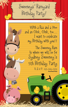 Invitations BIRTHDAY Children - Juvenile Girls or Boys ...