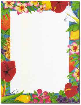 Discontinued item Our desktop EZ-print papers are a cinch for you to    Luau Border