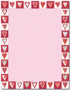 Punchy image for valentine stationery free printable