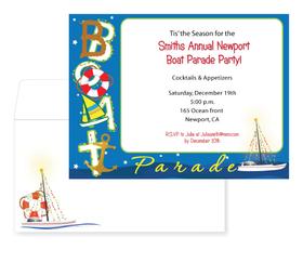 Nautical Christmas Theme.Holiday Seasonal Christmas Invitations Nautical Tropical