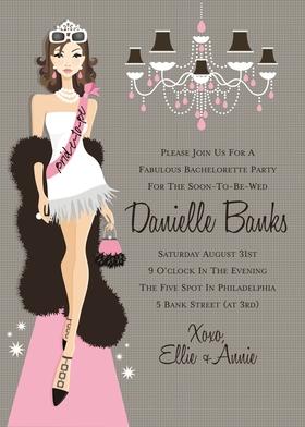 Invitations Bridal Lingerie Shower Bachelorette