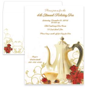 holiday seasonal christmas invitations cocktail food tea