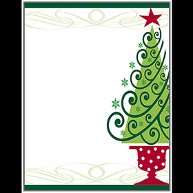 holiday seasonal christmas stationery papers 8 5 x 11 classic