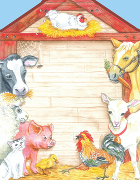 "This adorable laser paper features a fun barnyard scene with a pig, cow, horse and others!  This premium quality 8.5"" X 11"" laser paper would make a great invitation for a childs birthday or petting zoo party.  Available blank or personalized.  Envelopes sold separately."