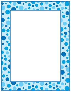 papers baby shower blue polka dots letterhead limited stockdesigned with