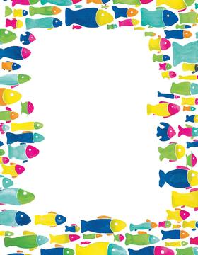 Fish paper border