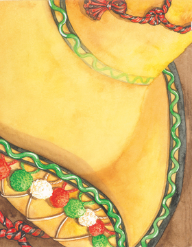Mexican food themed parties are always a great way to give your party a little flare! This lase paer is designed with a Sombrero with colorful ornaments on the side that will create the perfect announcement for you. <br>Envelopes are available but are sold seperately.