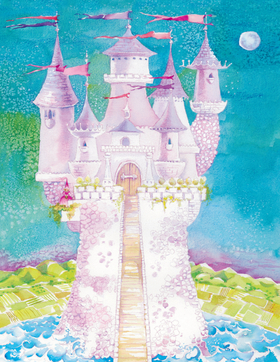 This beautiful castle laser paper is designed with bold colors and a whimsical touch.  Perfect for a princess themed party.