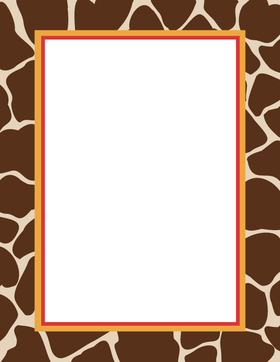 Gallery images and information: Safari Paper Border