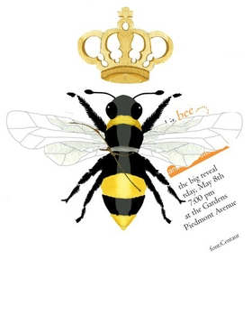 Queen Bee design is perfect for a ladies night out, a seek sixteen theme or a bridal shower. A gold ribbon to attach the white invitation card. Includes white envelopes.  Assembly required.