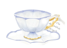 This beautiful sip n see tea themed invitation if perfect for a bridal shower, baby shower or just a luncheon with the ladies.  Designed with an elegant tea cup and saucer and attached with a white ribbon to a 3.5 x 5 card to print your personalization.  This does require assembly and we do offer assembly for personalized orders for a .50 charge per card.  Includes a white envelope. Please make a comment in the customers comments section if you would like to add assembly.   (if you would like glitter option added please make a comment in the customer comment section.  Add $.50 per invitation if you would like us to add a touch of glitter -personalized orders only).