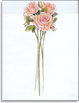 This elegant design is a great way to announce your special event!  Three long-stemmed pink roses create a cheerful design for your bridal shower or spring event!  Laser/inkjet compatible.<br><br>Envelopes are sold separately.