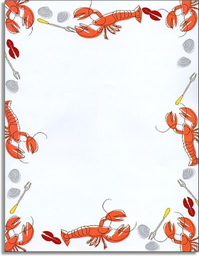 Stationery & Notecards LETTERHEAD & STATIONERY PAPERS Clambake - Seafood Lobster Feast Paper