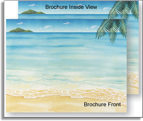 Our easy to print tri-fold brochures have a design as shown on both sides of the paper.  The brochure is scored for easy folding & inkjet/laser compatible for simple printing on your printer.<br><p>Additional quantities are available beyond quantities shown on the price list.</p><p><b>Coordinating items also available.</b>