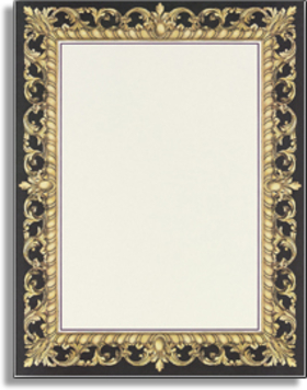 Stationery notecards letterhead stationery papers for Classic border design