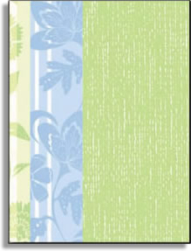 "Pastels and textures make this paper a success for a variety of bridal, tropical or spring events.  Its decorated in a soft yellow, blue, and green striped floral design.  The coordinating envelope adds even more color, and keeps the simple yet interesting decorative style.<p>Make an impression with our premium quality designer 8 ½"" x 11"" paper & coordinating envelopes which are laser/inkjet compatible. Coordinating envelopes are sold separately.</p><p>Easy to print on your printer or we can print for you.</p>"