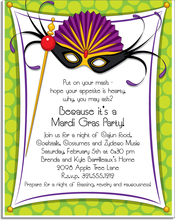 Product Image For Mardi Gras Mask Paper