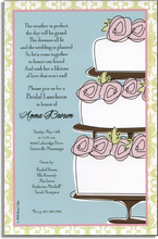 Product Image For Rose Cake Invitation