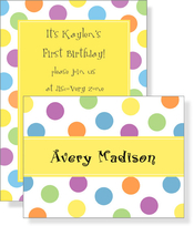 Product Image For Color Dots Invitation