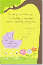 Product Image For Purple Buggy Invitation