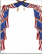 Product Image For Patriotic Flags Paper