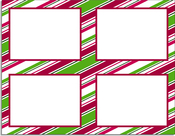 Product Image For Holiday Stripes 4-Up
