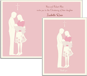 Product Image For Christening Pink on White Cardstock