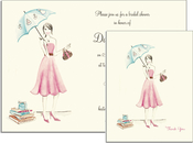 Product Image For Bridal Umbrella Invitation on White Cardstock