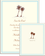 Product Image For Palm Tree Invitation on White Cardstock