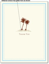 Product Image For Palm Tree Note Card on White Cardstock