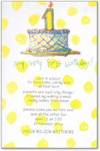 Product Image For Yellow Dot 1st Birthday