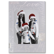 Product Image For Silver Foil Greetings Photo Card