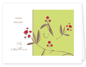 Product Image For Berries on Green Notecard