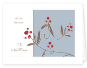 Product Image For Berries on Blue Notecard