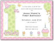 Product Image For 1st Birthday Party Girl Digital Invitation