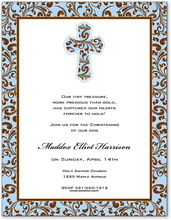 Product Image For Blue Filigree Cross Paper