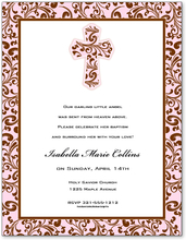 Product Image For Pink Filigree Cross Paper