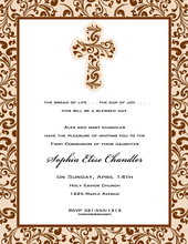 Product Image For Taupe Filigree Cross Paper