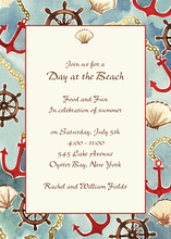Product Image For Nautical Invitation on White Cardstock