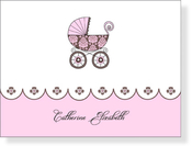 Product Image For Posh Baby Girl Note Card