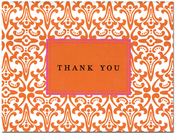 Product Image For Frill Orange Notecard