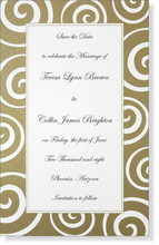 Product Image For Gold Rush Invitation